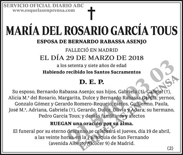 María del Rosario García Tous